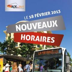 De retour de vacances n 39 oubliez pas les nouveaux horaires aix en bus - Horaires bus salon de provence ...