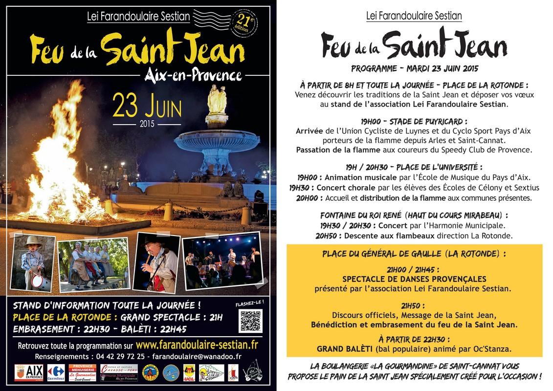 21 me feu de la saint jean mardi 23 juin 2015 aix en - Bureau de poste la rotonde aix en provence ...