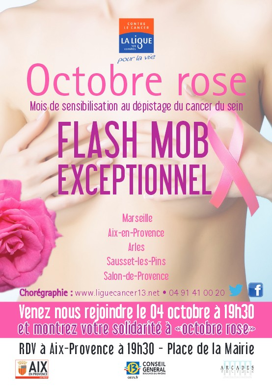 Flash mob contre le cancer du sein vendredi 4 octobre - Journee des associations salon de provence ...